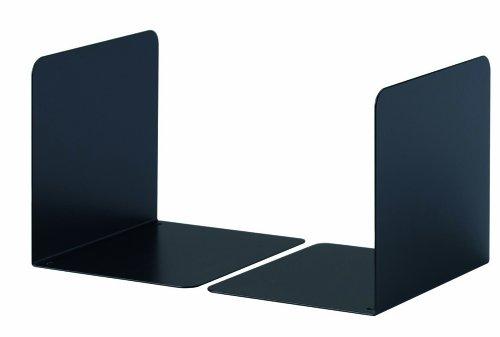 Durable 324301 Apoya-libros Metal S, set de 2, negro