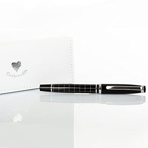 Ingrosso e Risparmio Cuorematto – Bolígrafo elegante de color negro con detalles plateados, ideas de regalo, recuerdo de boda, graduación, con caja de regalo incluida (con caja de color crema)