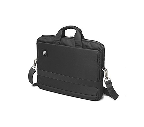 Moleskine ID Collection Borsa a Tracolla Orizzontale Device Bag per Pc, Tablet, Notebook, Laptop e iPad fino a 15'', Dimensioni 40 x 9.5 x 31 cm, Colore Nero