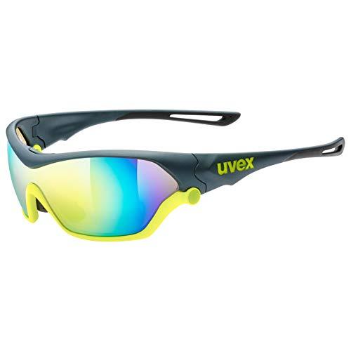 uvex Unisex– Erwachsene, sportstyle 705 Sportbrille, inkl. Wechselscheiben, grey neon yellow/yellow, one size