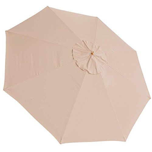 Extra Large 13-foot Diam. UV30+ Anti-fade Polyester 8 Ribs Umbrella Replacement Canopy Avid Apricot Color for Outdoor Patio Furniture Sunshade Waterproof