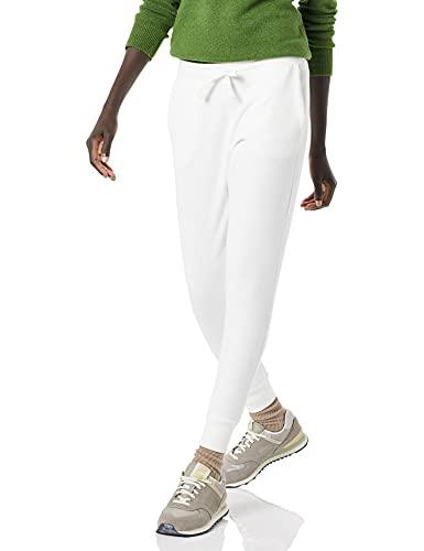Amazon Essentials French Terry Fleece Jogger Sweatpant (Plus + Missy) Pantalones, Blanco, XXL