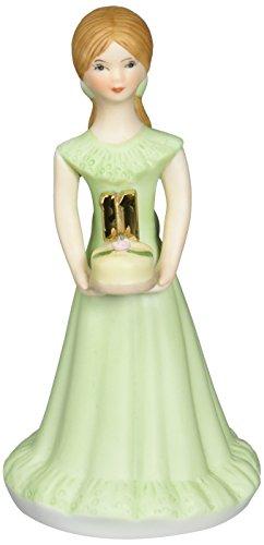 "Enesco Estatueta de porcelana""Morunette Age 11"" para meninas crescendo, 14 cm"