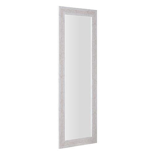 Espejo vestidor Efecto mármol Beige de Madera MDF de 56x152 cm - LOLAhome
