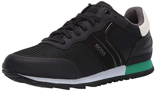 Hugo Boss BOSS Green Men's Parkour Runner Sneakers, Black, 42 M EU (8.5 US)