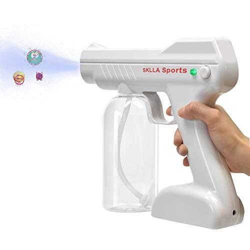SKLLA Sports (Wireless 800m1) 110v Wireless Nano steam Spray Gun, 800ml Super Large Capacity Rechargeable Electric Sprayer Portable Fog Machine, aerosol Water Mist Trigger, for Office, Home, Clothes…