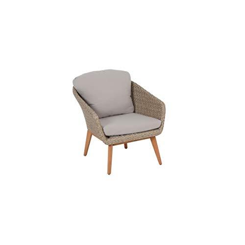Greemotion Murcia Loungemöbel Set 4-teilig für Garten und Terrasse mit Tisch aus Holz, braun, 1 x 1 x 1 cm - 5