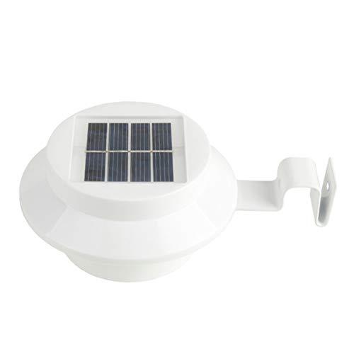 KTLSHY Solarlampe 3 LED Solarspüle Licht Wandleuchte 30lm Solarbetrieben Zaun Straße Garten Rasen Außenbeleuchtung Energieeinsparung