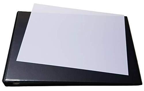 Ringbuch, Ordner SCHWARZ in A4 als QUERFORMAT mit Drahtniederhalter und Sichttasche/Einschubtasche