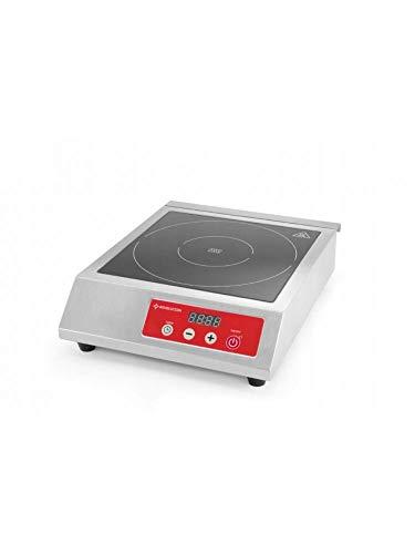Revolution Gastro Kochplatte | 38,3 x 46,5 x (H) 9,2 cm | Leistungseinstellung bis zu 3500 W | Induktionsplatte für Töpfe mit Durchmesser bis 260 mm | Induktionskochfeld für den gewerblichen Einsatz