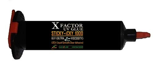 Xfactor Hydro Sticky-Icky1000 LOCA UV Glue - 50ml Professional Grade Liquid Optical Clear Adhesive - Ultra Low Viscosity 1000mPas (Black Lightproof Tube)!!