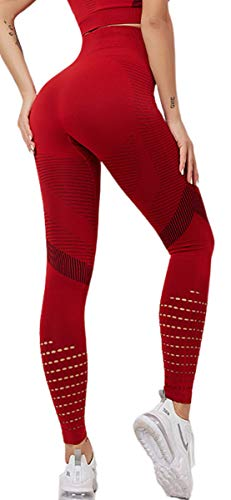 JFAN Pantaloni Yoga Donna Leggings Push Up Sportivi Donna Vita Alta Stretto Sport Tuta Donna Elastico Traspirante