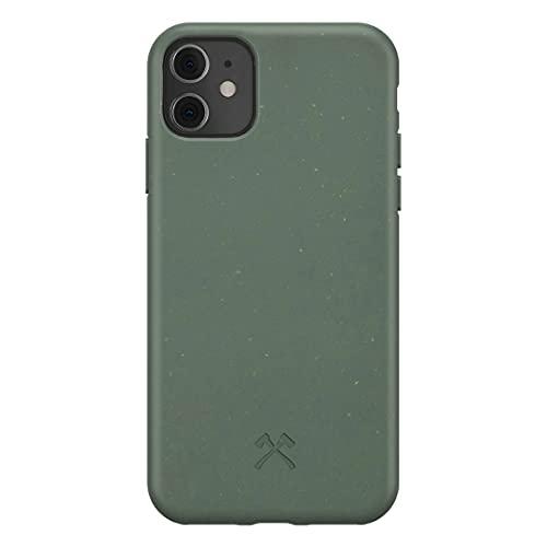 Woodcessories - Handyhülle kompatibel mit iPhone 11 Hülle grün, iPhone XR Hülle grün - Nachhaltig aus Pflanzen