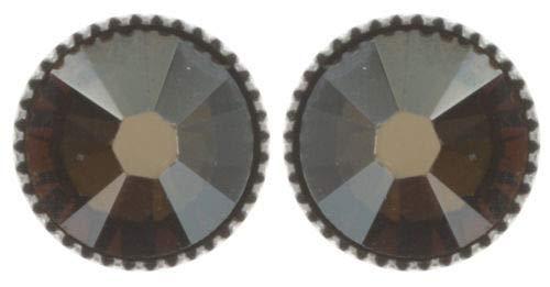 Koplott Ohrringe Black Jack Ø 1cm grün silber