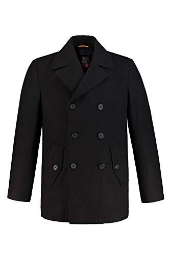JP 1880 Herren große Größen bis 7XL, Cabanjacke, Mantel mit hochwertiger Woll-Qualität, Reverskragen schwarz 6XL 700196 10-6XL