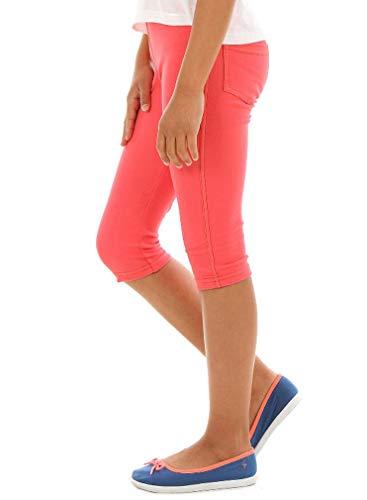 Dykmod Mädchen Leggings Leggins Jeans-Optik 3/4 Capri Frühling Sommer hk337 146 Koralle