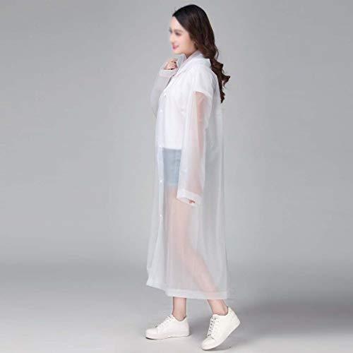 DongYuXuXi mode Eva vrouwen regenkleding verdikt waterdicht regenjas vrouwen helder transparant tour waterdicht regenkleding pak wit