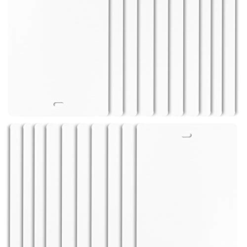 DALIX PVC Vertical Blind Replacement Slats Curved Smooth White 98.5 x 3.5 (20-Pack)