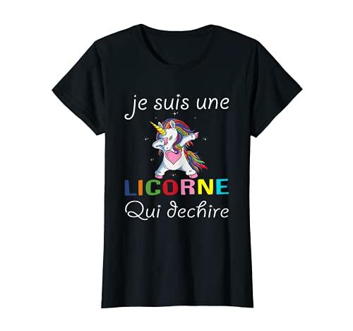 Une Licorne Qui Déchire Humour Licorne Cadeau Femme Fille T-Shirt