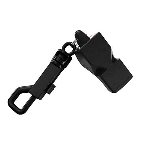 Sharplace Sifflet De Survie De Plongée sous-Marine D'urgence De Plongée sous-Marine avec Clip Instantané - Noir, 6