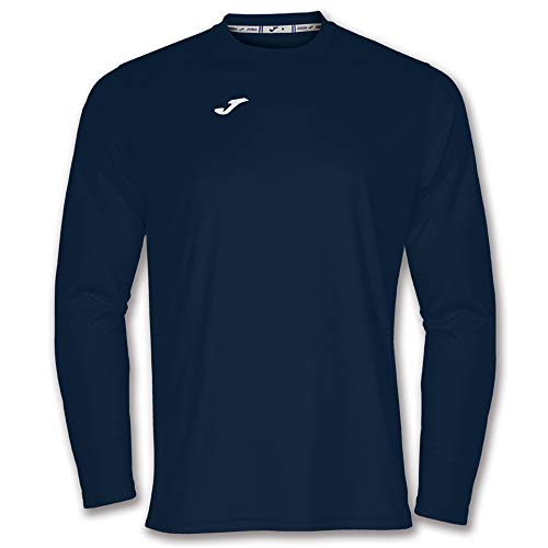 Joma Combi Camisetas Equip. M/L, Hombre, Marino Oscuro, S