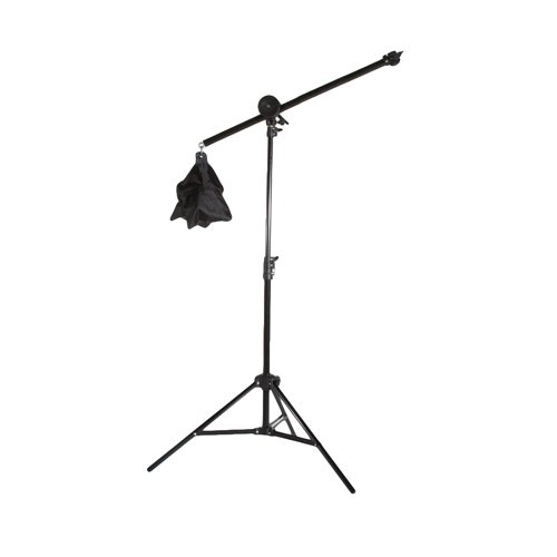 StudioPRO (Set of 3) Dimmable 600 LED 5600K Daylight Light Panel for Photography Video & Film Production - Continuous S-600DN LED Lighting Kit Includes Barndoors, Boom Arm and Light Stand Kit