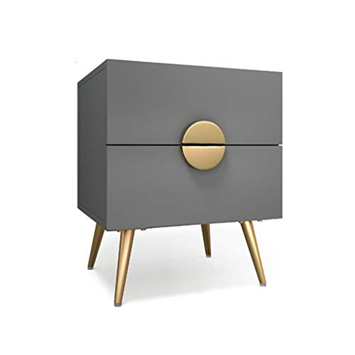 New King Boutiques Nightstand Bedside Table with 2 Drawers Contemporary Bedroom Storage Unit Home Ni...