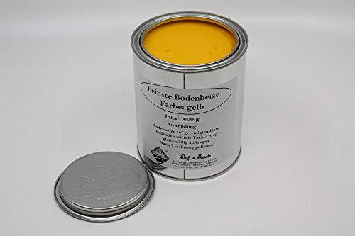 Wasserrose® 600 g (100g=1,74€) BODENBEIZE GELB BOHNERWACHS MIT Farbstoff Made IN Germany