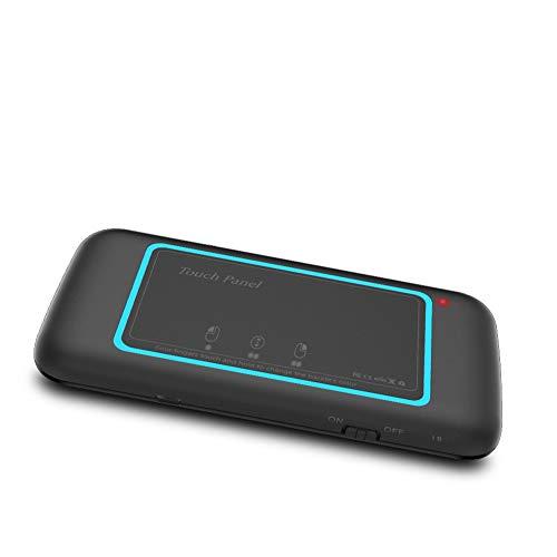 FairOnly H20 Mini-Tastatur und Touchpad-Maus, wiederaufladbar, automatische Rotation, Fernbedienung, bequem