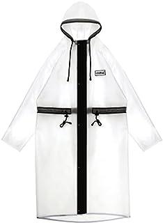 XUECHEN Raincoats Fashion Waterproof Women Men Long Transparent Raincoat Jacket Hooded Cape For Outdoor Activities (Color...