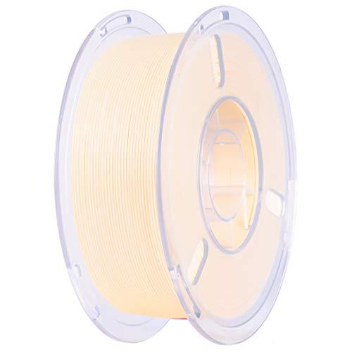 Filamento PLA Plus 1,75 mm 1 KG +/- 0,02 mm, Nessun Groviglio | Elevata Tenacità, Stampanti 3D Filament PLA+ 3D Printer Filamento per Stampante 3D/ Penne 3D, Crema/Nero/Giallo (Crema)
