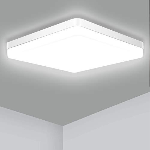 Plafonnier Carre Led 36W, Ouyulong luminaire Étanche IP56 Plafonnier 3240LM 4000K Blanc Naturel Lumière ,Utilisé Dans La Salle De Bain Cuisine Chambre à Coucher Couloir Salle à Manger Balcon Garage