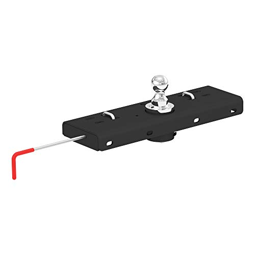 CURT 60607 Double Lock Gooseneck Hitch with Flip-and-Store Ball, 30,000 lbs., 2-5/16-Inch Ball