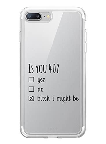 Oihxse Fina Silicona Antigolpes Protectora Funda Compatible con iPhone 5/5S Hermoso Cristal Transparente Slim TPU Antigolpes Cute Texto en Blanco y Negro Adecuado para Niños y Niñas