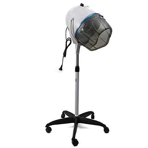 Capuchón para secador de pelo, giratorio, altura regulable, 950 W, color blanco