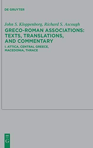 Attica, Central Greece, Macedonia, Thrace (Beihefte Zur Zeitschrift Für die Neutestamentliche Wissensch) (English...