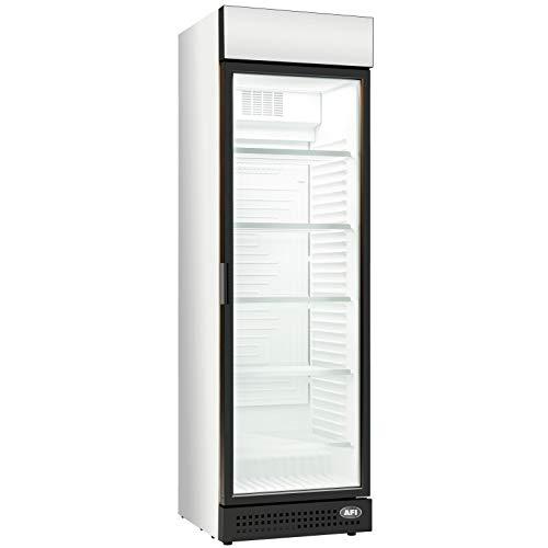 AFI Collin Lucy R600A - Armario de bebidas refrigerado positivo con 1 puerta de cristal (370 L)