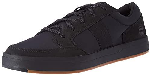 Timberland Herren Davis Square Fabric and Leather Oxford Basic Sneaker, Black Nubuck, 44 EU