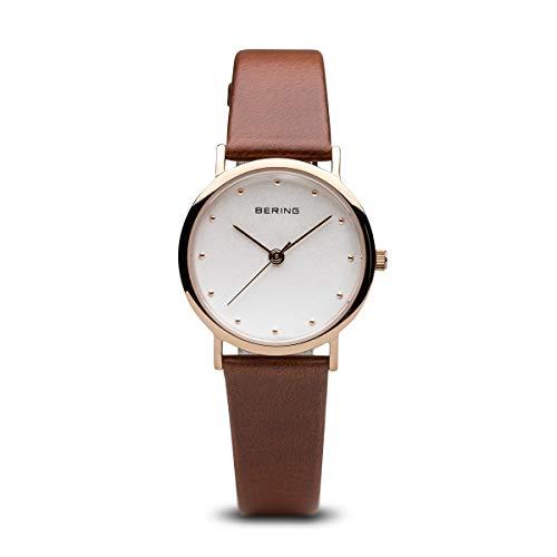 BERING Damen-Armbanduhr Analog Quarz Leder 13426-564
