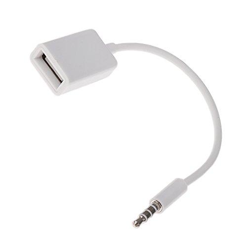 Cable Convertidor 3,5mm Macho Aux de Audio Conector Jack a USB 2.0...
