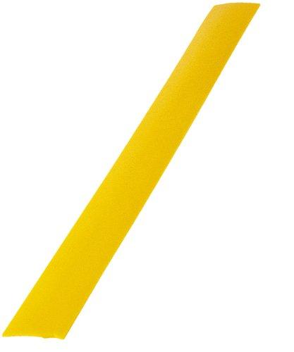 Latte de marquage en matière anti-glisse 40 x 4 cm de couleur jaune -Visiodirect -