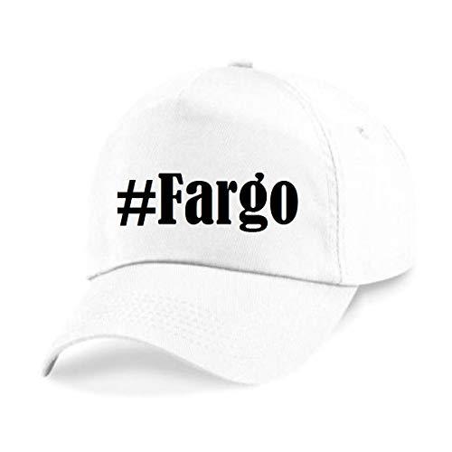 Reifen-Markt Base Cap Hashtag #Fargo Größe Uni Farbe Weiss Druck Schwarz