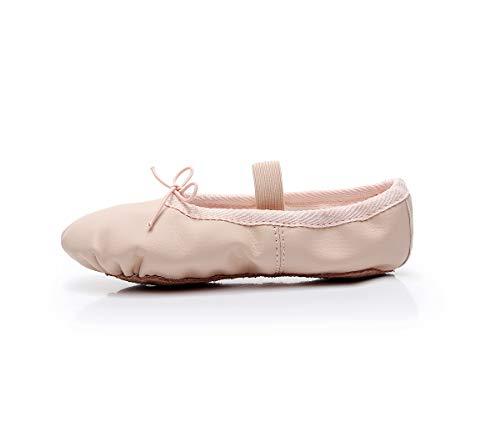 Lily's Locker- Scarpette da Danza per Ragazze con Suola Intera in Pelle Scarpe da Ballerina per Bambini e Adulti (Beige, Numeric_31)