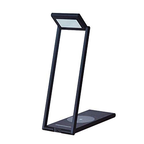 QXinjinxtd Lámparas para habitaciones Lámpara de mesa LED LED regulable plegable, lámpara de escritorio LED de carga inalámbrica for Qi, lámparas de mesa que cuidan los ojos, lámpara de escritorio con
