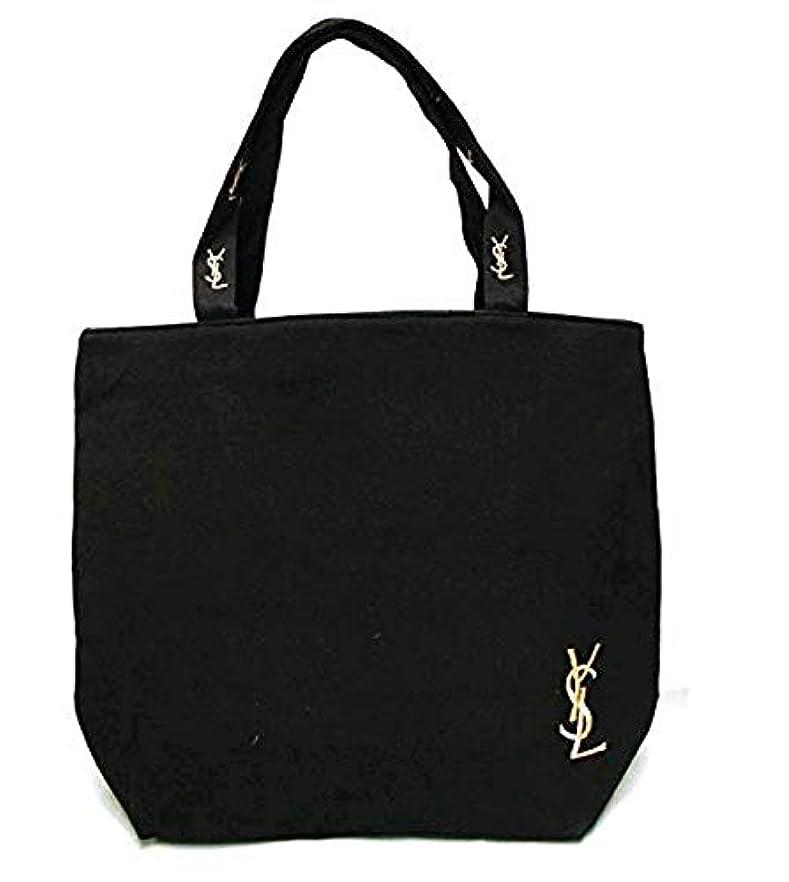 タクシーアーサー棚「Yves Saint Laurent」イヴサンローラン トートバッグ 黒 サブバッグ パーティーバッグ フォーマルバッグ 軽量 キャンバス マザーズバッグ