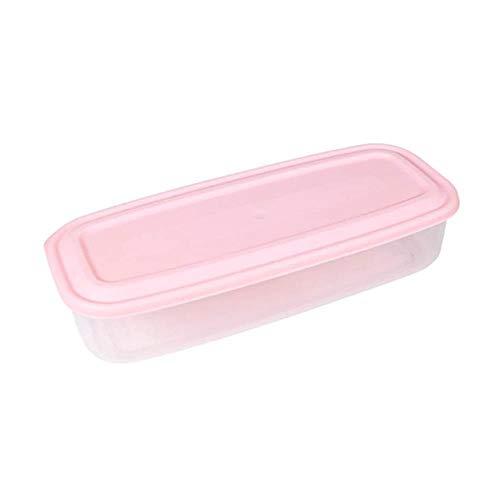 ASDFG Große Nudel Lebensmittellagerung Küchenbehälter Rechteckige Nudelschachtel Küche Lebensmittelaufbewahrungsbox Versiegeltes Glas Frische Schachtel, Pink, L,
