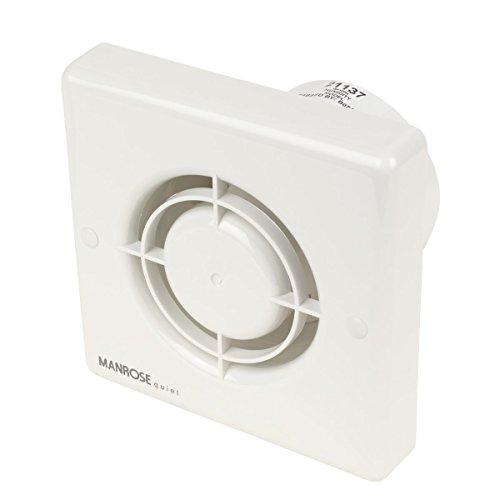 Manrose silencioso QF100H 5 W ventilador Extractor de aire para baño con temporizador/higrostato