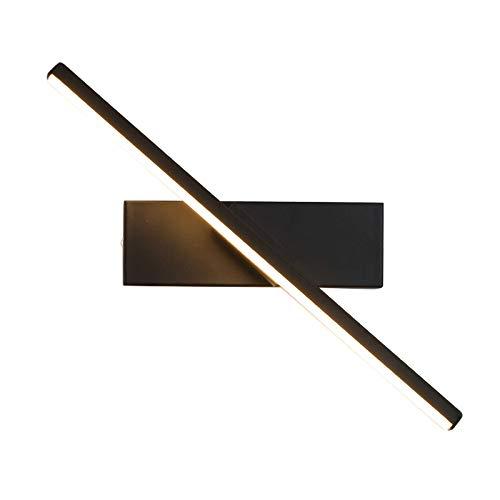 Lámpara de Pared Moderna para Dormitorio, 330 °Lámpara de Pared de Lectura de cabecera giratoria Pantalla de Aluminio Iluminación Interior de Pared de Metal LED para Stai
