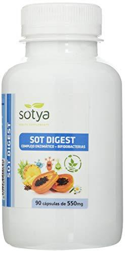 Sotya Sot Digest - Complejo enzimático + bifidobacterias, 90 cápsulas de 550 mg