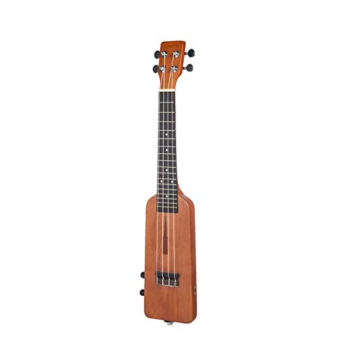 DIY-Komponenten-Gitarren-Körper Kreative flaschenförmigen 23-Zoll-Massivholz-Elektro-Ukulele Ukelele Uke Kit mit 3,5-mm-Audiokabel und 4 Zusatz Strings (Color : As show)